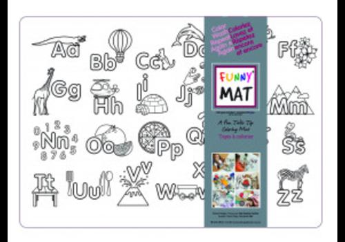 Funny Mat Napperon à colorier Alphabet