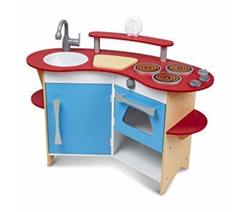 Cook's corner wooden kitchen
