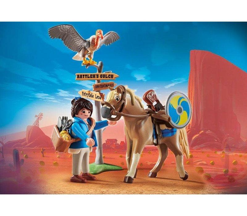 Playmobil THE MOVIE Marla avec cheval