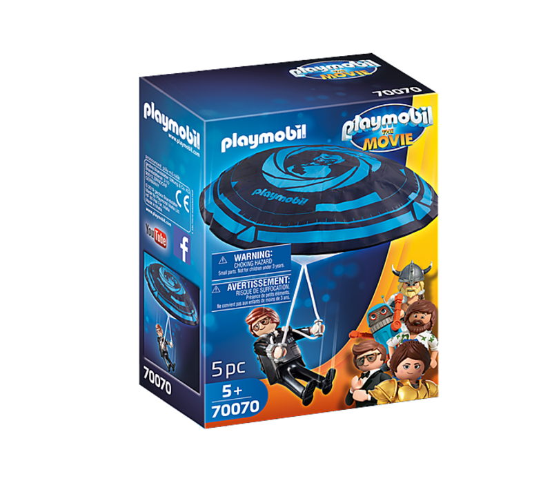 Playmobil THE MOVIE Rex Dasher avec Parachute*