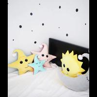 STAR PLUSH LIGHT - BEIGE/DARK PINK