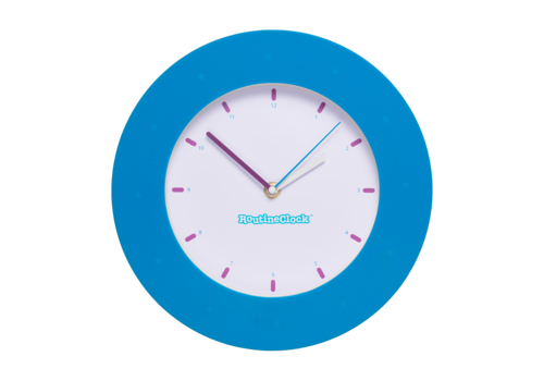 Routine Clock bleu
