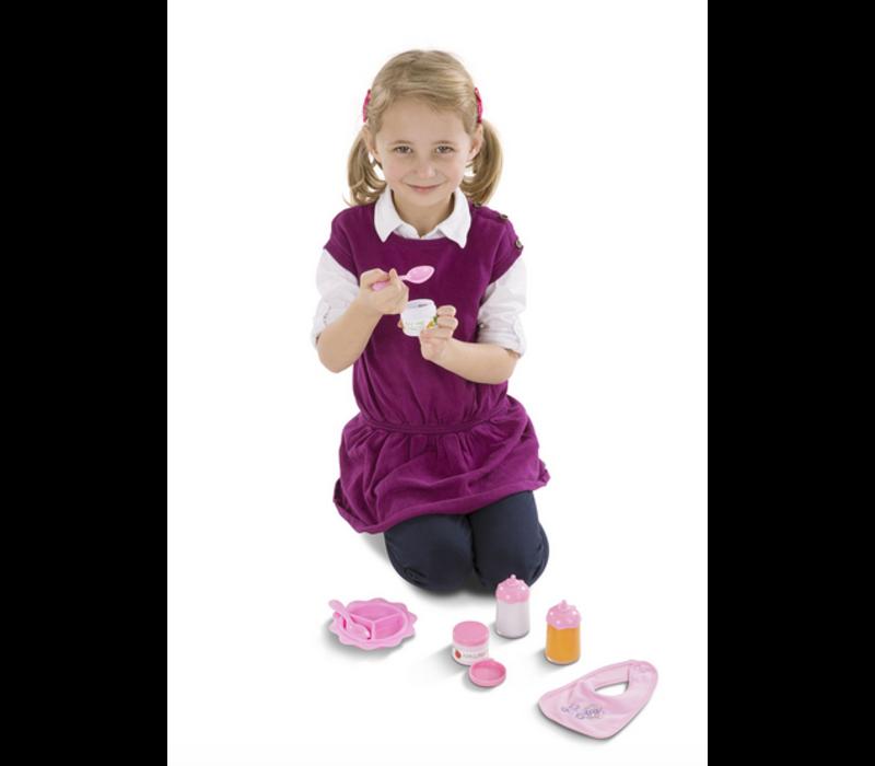 Mine to Love - Baby Food & Bottle Set - Ensemble de biberons et nourriture pour poupées