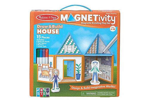 Melissa & Doug Magnetivity - Draw and build house - Dessine et construis ta maison magnétique