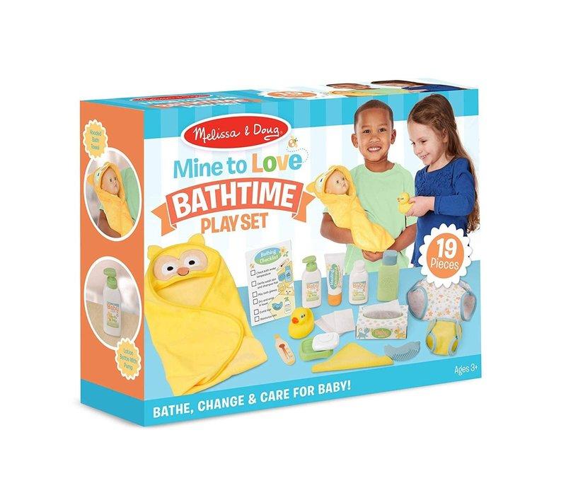 Mine to love- Doll Bathtime Play Set- Ensemble d'accessoires de bain pour poupées