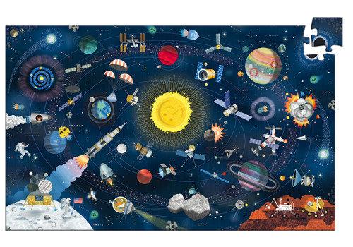 Djeco Puzzle L'espace - 200 pcs + livret