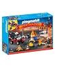 Playmobil Calendrier de l'Avent - Pompiers et incendie de chantier