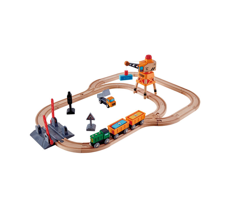 Circuit du train Cargo - Crossing and Crane Train Set