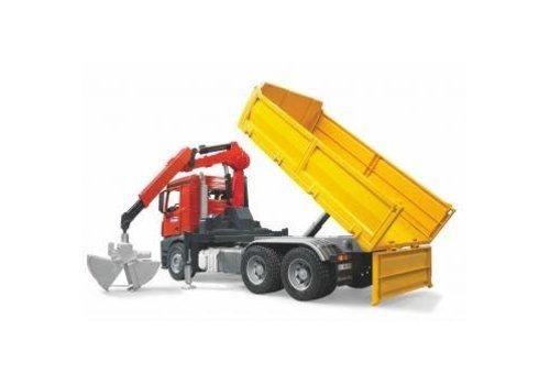 Bruder Camion de construction avec palettes et accessoires