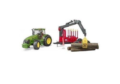 Bruder Tracteur avec remorque forestière