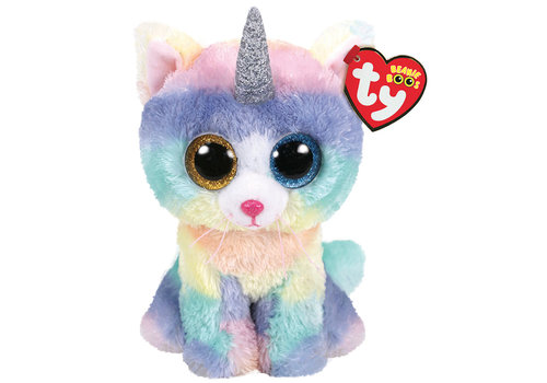 ty Peluche Chat Heather