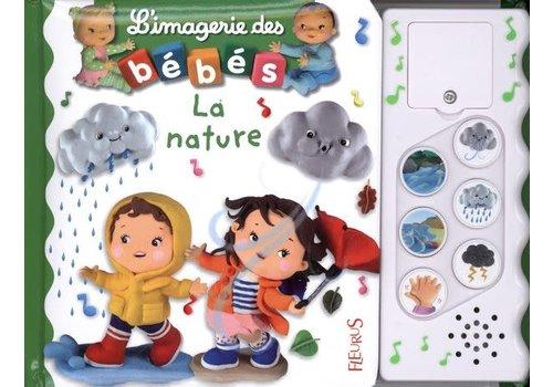 Livre sonore L'imagerie des bébés - La nature