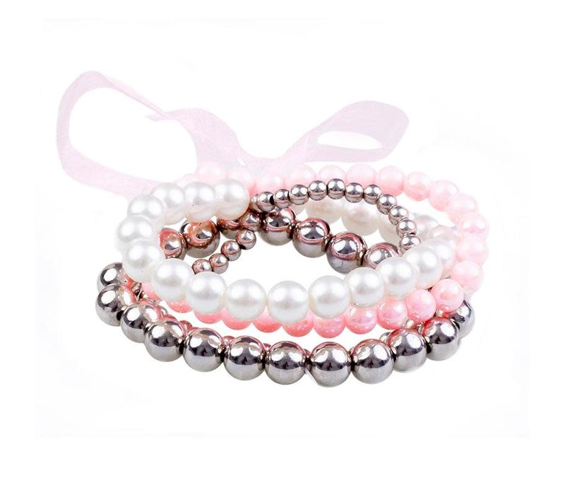 Pearly to Wed 4 Pcs Bracelet Set