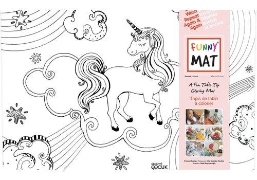 Funny Mat Napperon à colorier Licorne