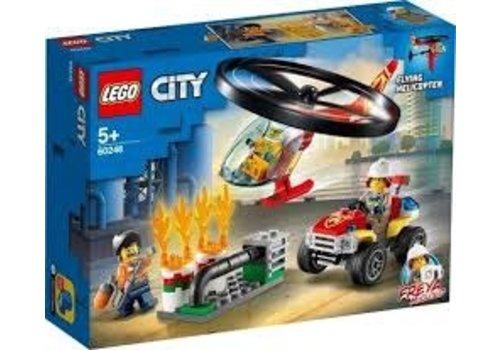 Lego CityFire-L'intervention de l'hélicoptère des pompiers