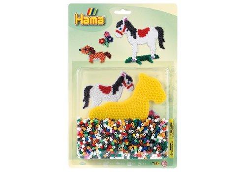 Perles Hama 1100 Perles et plaque cheval