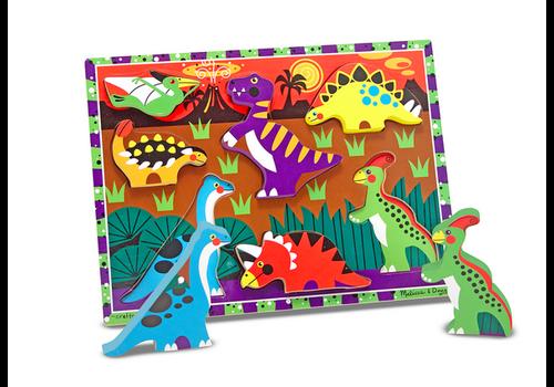 Melissa & Doug Dinosaurs - Casse-tête à encastrements, les dinosaures