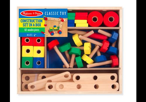 Melissa & Doug Construction Set in a Box - Ensemble de construction dans une boîte en bois