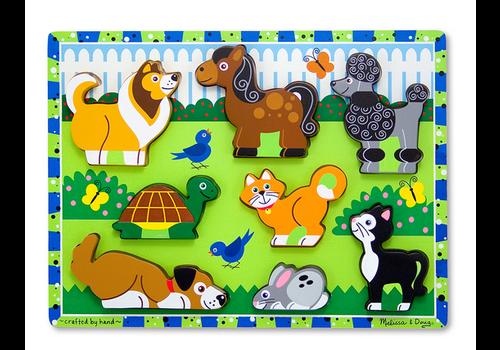 Melissa & Doug Pets - Casse-tête à encastrements, les animaux domestiques