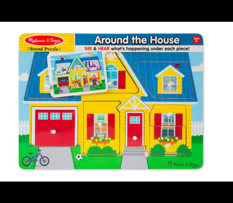 Around the House See & Hear Puzzle - Casse-tête sonore, les sons de la maisons