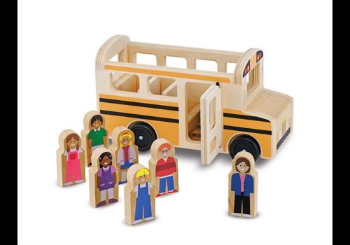 Melissa & Doug School Bus - Autobus scolaire en bois