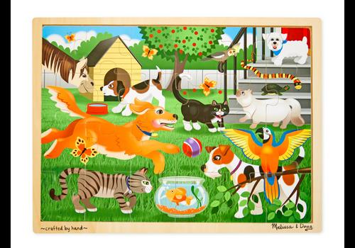 Melissa & Doug Pets - Casse-tête en bois, les animaux de compagnie, 24 morceaux