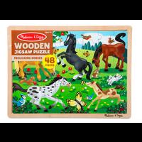 Frolicking Horses - Casse-tête en bois chevaux, 48 morceaux