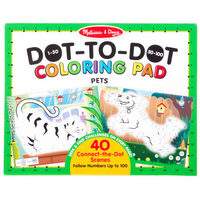 123 Dot-to-Dot─Pets - Coloriage point à point, les animaux de compagnie