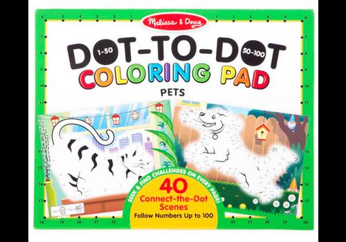Melissa & Doug 123 Dot-to-Dot─Pets - Coloriage point à point, les animaux de compagnie