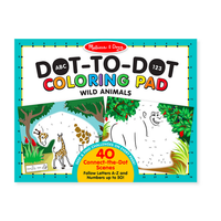 ABC 123 Dot-to-Dot─Wild Animals - Coloriage point à point, les animaux sauvages