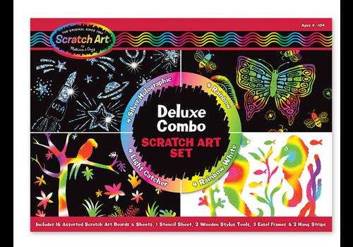 Melissa & Doug Deluxe Combo - Ensemble de luxe de cartes à gratter
