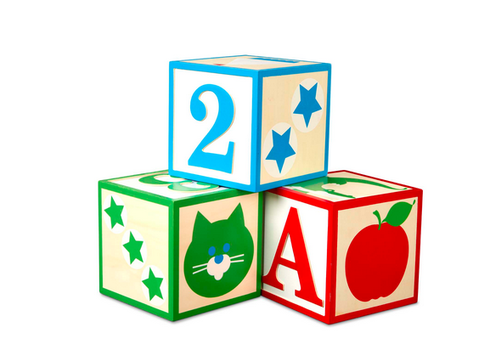 Melissa & Doug Jumbo Wooden ABC-123 Blocks─Classic - Blocs en bois grand ABC 123