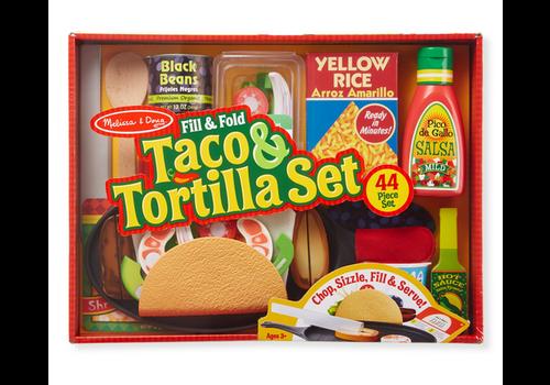Melissa & Doug Fill & Fold Taco & Tortilla Set - Ensemble à confection de Taco
