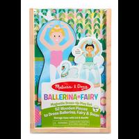 Ballerina & Fairy - Ensemble magnétique en bois Ballerines
