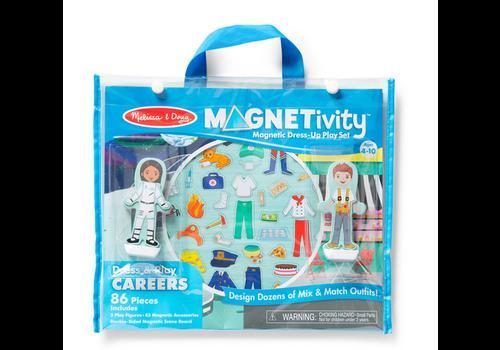 Melissa & Doug Dress & Play Careers - Magnetivity pochette à transporter magnétique - les métiers