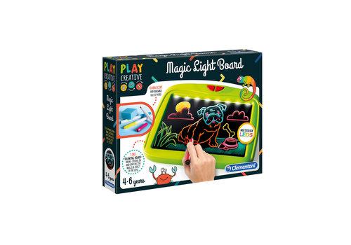Clementoni Magical light board - Tableau d'écriture lumineux