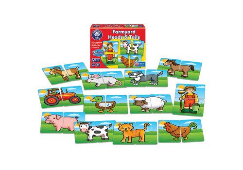 Orchard Toys Jeu éducatif, à la ferme : têtes et queues (multilingue)