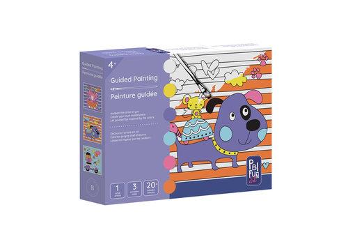 PBI Fun Art Ensemble de peinture guidée, petit chien mauve