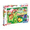 Clementoni Casse-tête 3 x 48 morceaux : Les amis de la jungle