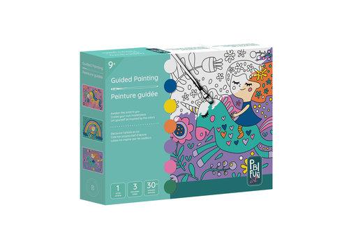 PBI Fun Art Ensemble de peinture guidée, jolie jeune fille