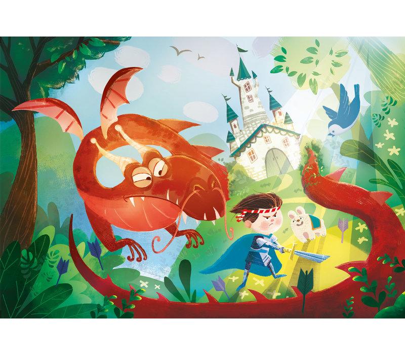 Casse-tete 180 morceaux : Le dragon et le chevalier