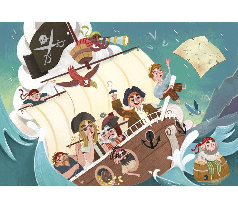 Casse-tête 104 morceaux : Les pirates