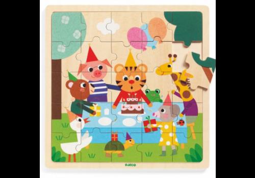 Djeco Puzzle bois / Puzzlo Happy / 16 morceaux