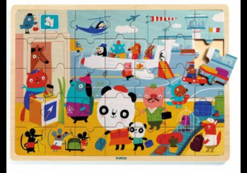 Djeco Puzzle bois / Puzzlo Aéroport 35 morceaux