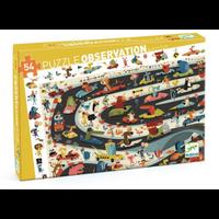 Casse-tête observation - Rallye automobile - 54 morceaux