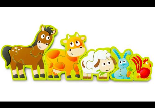 Hape Number & Farm Animal - Casse-tête Chiffres et Animaux de la ferme