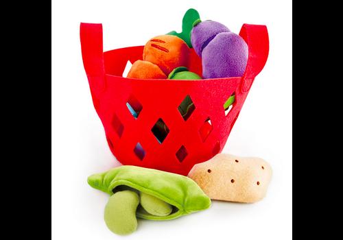 Hape Toddler Vegetable Basket - Panier de légumes en feutre pour enfants