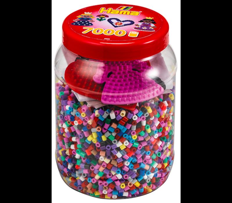 7000 perles Hama avec plaque