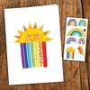 pico Carte de souhait - Les arc-en-ciel colorés
