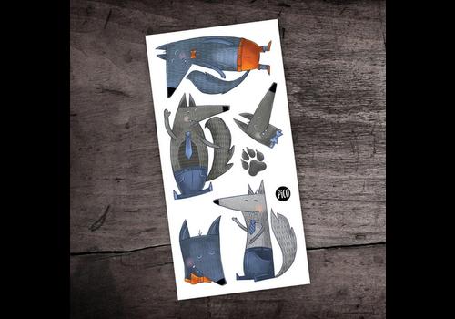 pico Tatouage temporaire - Les loups joyeux